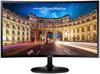 "Monitor VA LED Samsung 23.5"" LC24F390FHUXEN, Full HD (1920 x 1080), HDMI, VGA, 4 ms, Ecran Curbat (Negru)"