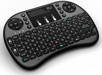 Tastatura mini RII RTMWK08P, wireless, iluminata, cu touchpad, pentru Smart TV, PC