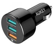 Incarcator Auto Aukey CC-T11, 3 x USB (Negru)
