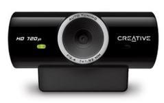 Camera Web Creative Live Cam Sync, HD (Negru)