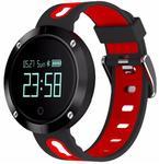 Ceas activity tracker Star EM58, Bluetooth, Bratara silicon (Negru/Rosu)