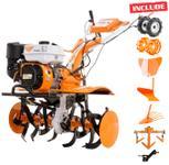 Motosapa Ruris 731ACC, Benzina, 4 timpi + roti cauciuc + rarita + plug + adaptor + dispozitiv scos cartofi + roti metalice 400 fara manicot + cultivator
