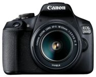 "Aparat Foto D-SLR Canon EOS 2000D + EF-S 18-55mm IS II, 24.1 MP, Ecran 3"" LCD, Filmare Full HD (Negru)"