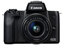 "Aparat Foto Mirrorless Canon EOS M50 + EF-M 15-45mm IS STM, 24.1 MP, Filmare 4K, TFT 3"" (Negru)"