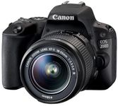 Aparat Foto DSLR Canon EOS 200D, + EF-S 18-55mm DC, 24.2 MP, Full HD, Wi-Fi (Negru)
