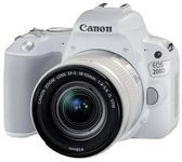 Aparat Foto DSLR Canon EOS 200D, + EF-S 18-55mm IS SL, 24.2 MP, Full HD, Wi-Fi (Alb)