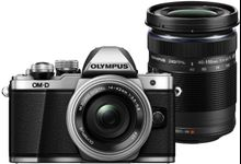 Aparat Foto Mirrorless Olympus E-M10 Mark II + Kit Double Zoom Obiectiv EZ-M1442 IIR + Obiectiv EZ-M4015 R, 16.1 MP, Filmare Full HD (Argintiu)