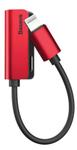 Adaptor Baseus L32 CALL32-09, Lightning - Jack 3.5 mm (Rosu)