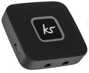 Adaptor Audio Bluetooth KitSound Splitter KSBTSPBK, Dual 3.5 mm AUX (Negru)