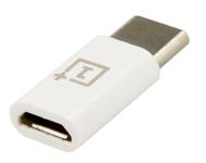 Adaptor OnePlus 060832, Micro-USB - Type-C (Alb)