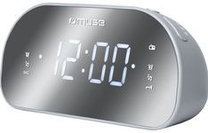 Radio cu ceas Muse M-170 CMR, Alarma, LED (Gri)