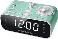 Radio cu ceas Muse M-18 CRG Vintage Collection, Dual Alarm, Aux-in (Verde)