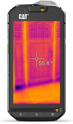 "Fotografie Telefon Mobil CAT S60, Procesor Octa-Core 1.2GHz / 1.5GHz, Super bright a-Si AHVA Capacitive touchscreen 4.7"", 3GB RAM, 32GB Flash, 13MP+Camera termica dedicata, 4G, Wi-Fi, Dual Sim, Android (Negru)"