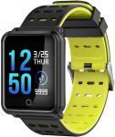 "Bratara Fitness iUni M88 Plus, Display OLED 1.3"", Bluetooth, Waterproof (Negru/Galben)"