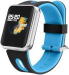 "Bratara Fitness iUni P68, Display IPS 1.3"", Bluetooth, Waterproof (Negru/Albastru)"