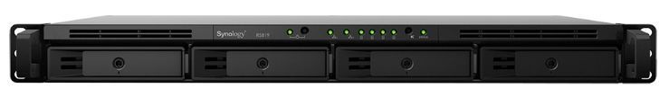NAS Synology RS819, 4 Bay-uri, Gigabit, Procesor Realtek RTD1296 Quad-Core 1.4 GHz, 2 GB DDR4 (Negru)