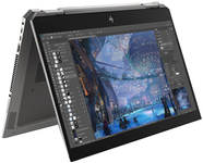 "Laptop 2in1 HP ZBook x360 Studio G5 (Procesor Intel® Core™ i7-8750H (9M Cache, up to 4.10 GHz), Coffee Lake, 15.6"" FHD, Touch, 8GB, 256GB SSD, Intel® UHD Graphics 630, FPR, Win10 Pro, Argintiu)"