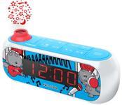 Radio cu ceas cu proiectie Muse M-167 KDB, Alarma, AUX (Albastru)