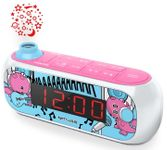 Radio cu ceas cu proiectie Muse M-167 KDG, Alarma, AUX (Roz)